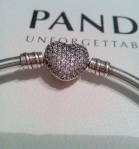Браслет серебро pandora пандора
