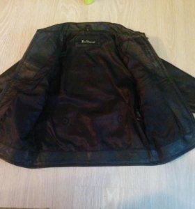 Куртка на мальчика(из кожзама)