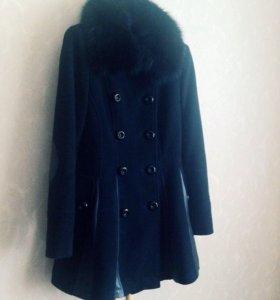 Пальто тёплое с натуральным мехом❄️