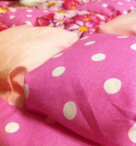 Зефирное одеяльце ручной работы