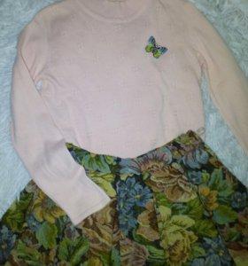 Тонкий свитер 116 размер
