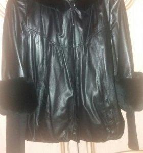 Куртка чиста коженная
