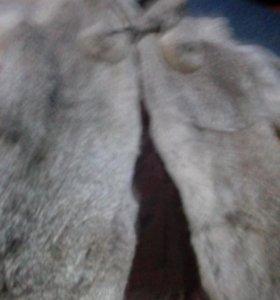 Шуба из кролика)в отличном состоянии
