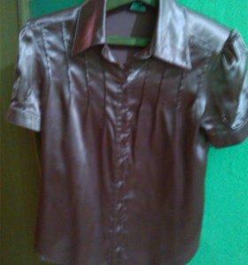 Блузка атлас хорошенькая или обмен на шампунь