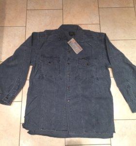 Кордовая мужская джинсовая рубашка