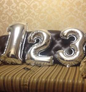 Воздушные шары в форме цифр