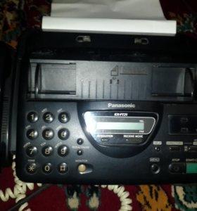 Телефон - факс панасоник KX-FT21