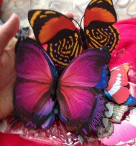 Бабочки магниты 12 шт