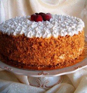 Домашняя выпечка, тортики на заказ