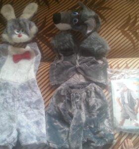 Карнавальный Костюм зайца и волка