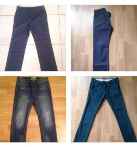 Мужские брюки, джинсы 4 шт р-р L Zara, zolla