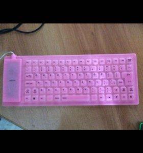 Клавиатура (розовая, переносная)