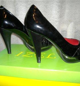 Туфли кожаные 39р
