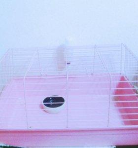 Клетка для грызынов среднего размера.кроликов