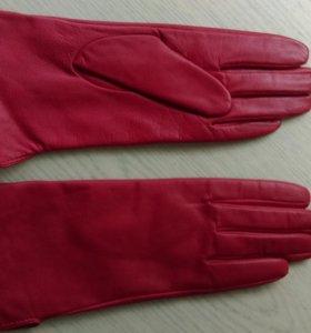 Перчатки женские кожаные новые