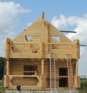 Строительство домов, бань из бруса