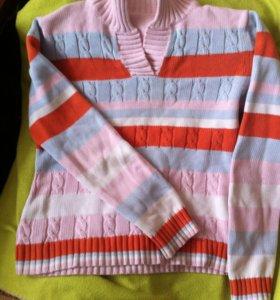 Приталенный свитер свитшот