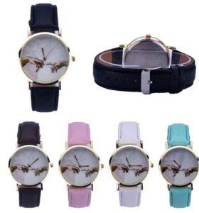 Новые часы женские руки Любовь сердце
