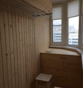 Отделка балкона,лоджии под ключ