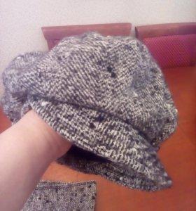 Зимняя шапка , шарф