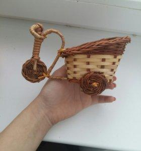 Вязаная корзина