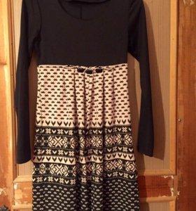 Платье трикотаж на холодную погоду
