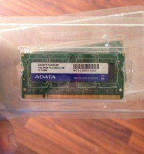 Оперативная память SO-DIMM DDR2 1024Mb 2 шт