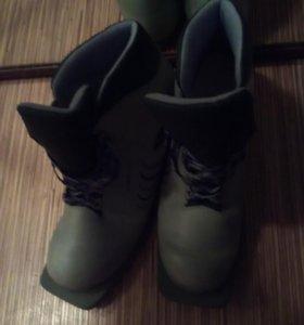 Мужские лыжные ботинки, р.42-43