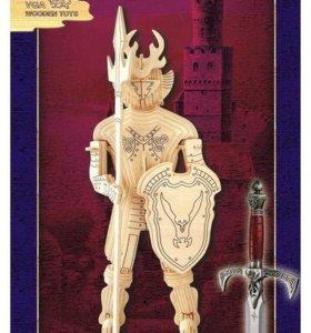 Деревянный рыцарь собиралка