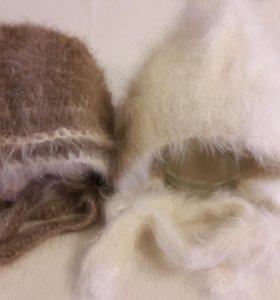 Новые шапочки и варежки  для новорожденного