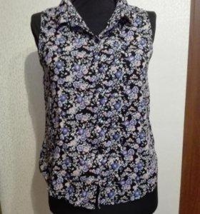 Блуза рубашка без рукавов H&M
