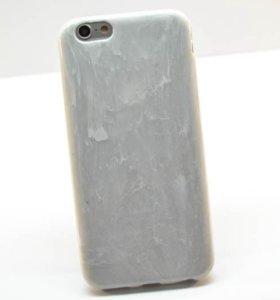 Чехол - накладка Силикон мрамор Iphone 5/5s