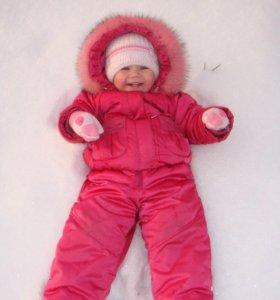 Зимний комплект: куртка и полукомбинезон