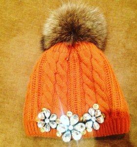 шапка женская,зима