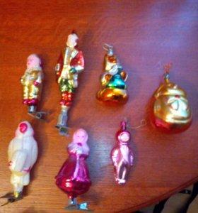 Набор новогодних игрушек ссср
