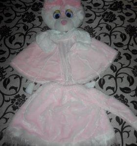 Новогодний костюм Розовая кошечка