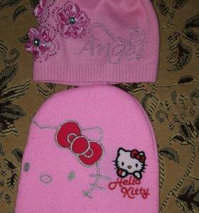 2 шапки для девочки