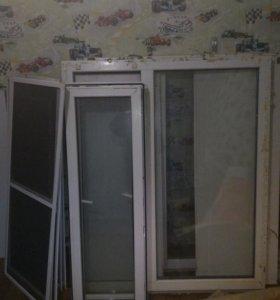окна пластиковые 2шт. 126х147см