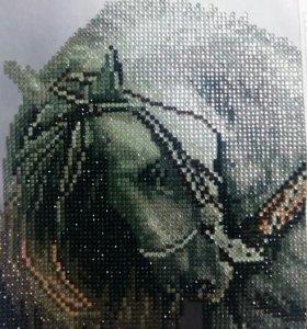 3д картина лошадь