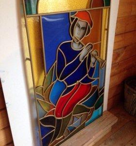 Картина-Витраж,мозайка из стекла