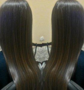 Кератиновое выпрямление,ботокс,полировка волос