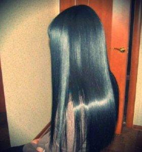 Керативое выпрямление волос