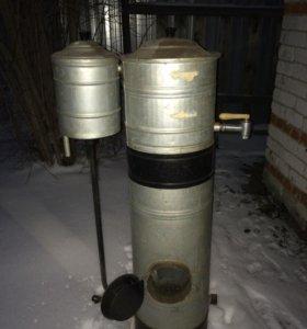 Промышленный водонагреватель, топка от дров