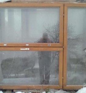 Окна деревянный стекло пакет бу