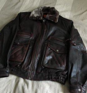 Куртка кожаная мужская David Moore