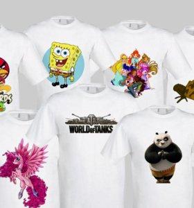 Печать на футболках, кружках, магнитах, фотоуслуги