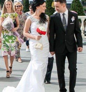 Свадебное платье, р.S/XS