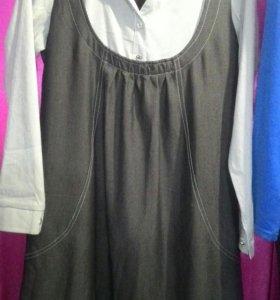 Платье имитация сарафан