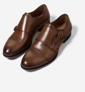Кожаные туфли с пряжкой zara