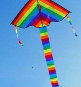 Воздушный Змей с хвостом, одностропный, простой